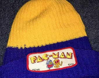 1981 Midway Pac Man video game knit winter hat RAD