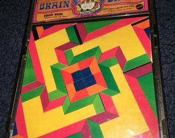 vintage 1969 Mattel Brain Drain puzzle hippie psychedelic trippy