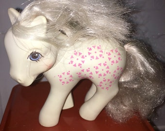 vintage 1987 Hasbro made in China conclave foot Sundance my little pony twice as fancy unicorn pony RAD