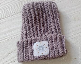 North Star Beanie in Lavender