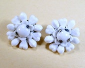 Sale 20 Vintage made in Japan thermoset flower power clip on earrings