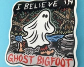 Ghost Bigfoot Sticker