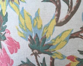 Pillow Cover in Flower Print Linen