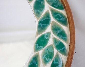 Mosaic Tile Wreath Mirror, Copper Crystalline