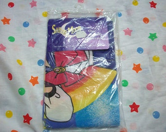 Vintage 1990s new in wrapper sailor moon pillowcase standard size