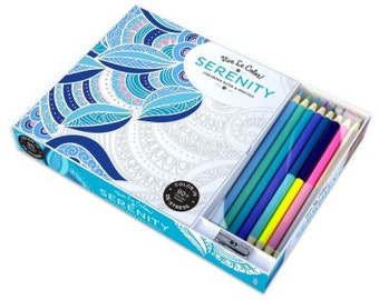 Vive Le Color! Serenity, coloring book and pencils, Abrams Publishing