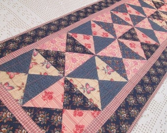 Quilted Cottage Chic Table Runner