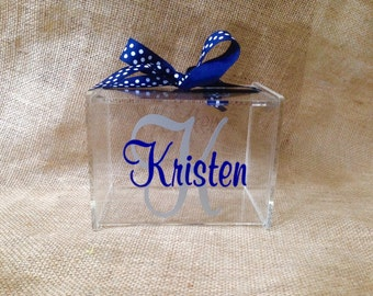 Personalized Recipe Box - Large - 4 x 6 - 60 BLANK CARDS Included