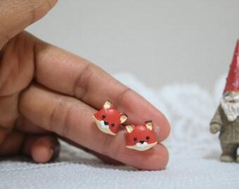 Miniature Fox Earrings//Studs
