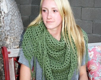 Shawl Green Sweet November inspired