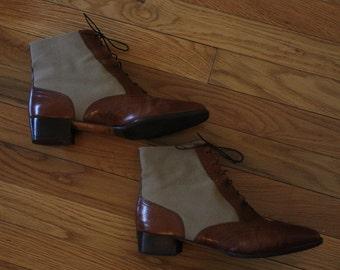 1990s Ferragamo Shortie Boots