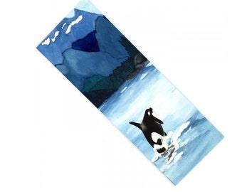 Yoga Mat Orca Breach Watercolor Painting - Exercise Mat