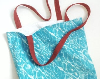 Swimming Pool Blue Tote Bag