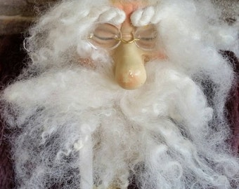 CHRISTMAS in JULY SPECIAL, Vintage Father Christmas or  Santa Claus doll figure, 24 inches tall, bisque type face and hands