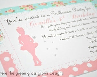 Ballet Invitation Printable