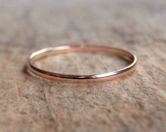 14K Rose Gold Filled Ring, Pink Gold Stacking Ring, Skinny Ring, Stackable Rings, Boho Luxe,  Bohemian Ring, Bohemian Jewelry, Mother's Day