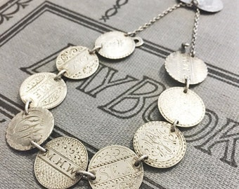 SALE Antique 1849-1886 Love Token Bracelet