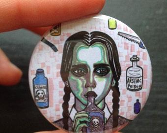 Wednesday Addams 38mm badge