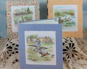 Alexander the Gander Blue Memory Journal with 1943 Children's Book Illustration on Cover