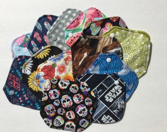 "Cloth Panty Liner 6.5"" Set of 3 Random Prints"