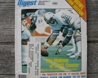 football digest february 1977 super bowl section 1970s football man cave collectible