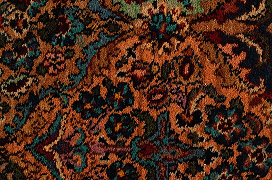 Karastan Persian Rug Kirman Multi Color Wool 10 X14