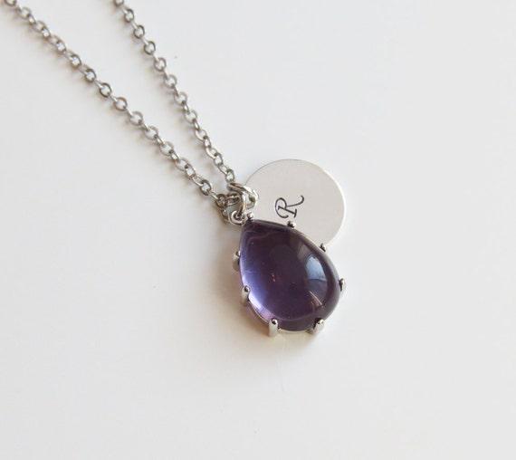 Mint Pendant Necklace | Personalized Necklace | Initial Necklace | Silver Initial Necklace | Gift Idea