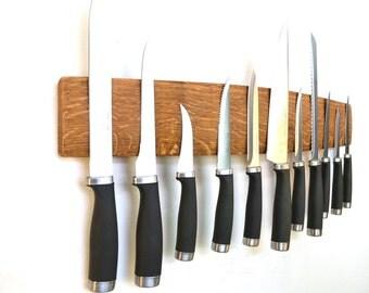 BELEDA - Javis - Wine Barrel Stave Wall Knife Holder - Shipping Included
