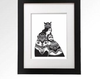 Macbeth. Archival ink giclée print. Illustration.