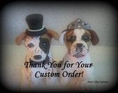 Bulldog Wedding Cake Topper
