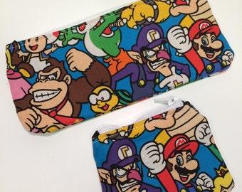 Wallet, change purse set - Mario