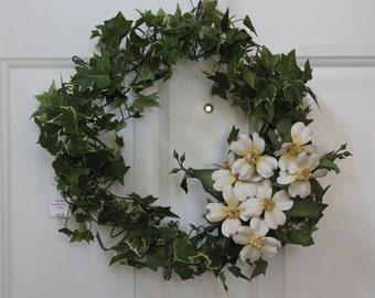 Dogwood and Ivy Wreath, Mattress Spring Wreath