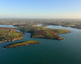 kinsale harbour and sandycove island from the air