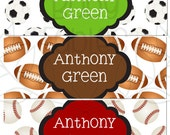 Personalized Waterproof Labels Waterproof Stickers Name Label Dishwasher Safe Daycare Label School Label - Anthony, 30 piece set