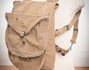 WWll 1943 US Military Canvas Rucksack // Canvas Field Pack // Day Bag // Backpack // Haversack// Duffle Backpack // Workwear