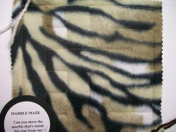 Marble Maze Game Tiger Stripes Sensory Therapy Maze Pattern 1