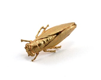 Cicada Pin, Tie Pin, Tie Tack, Lapel Pin, Cicada Brooch, Insect Jewelry, Bug Pin
