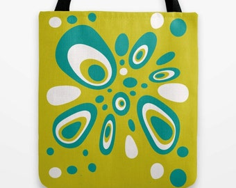 Green Tote Bag, Modern Tote Bag, Summer Tote Bag, Market Tote, Market Bag, Beach Bag, Beach Tote, Unique Tote Bag, Summer Tote, Stylish Tote