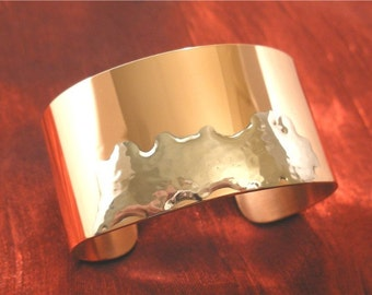 SALE - Abstract Copper and Silver Metal Cuff Bracelet, Metal Jewellery Copper, Womens Jewelry BR115