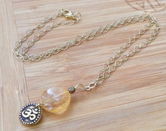 Warming Sun Citrine energy yoga and meditation necklace