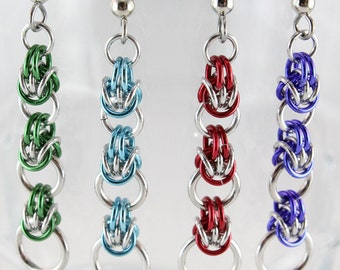 Tribyzantine Chain Maille Earrings