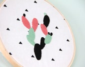 Cactus Embroidery Hoop- Ready to Ship