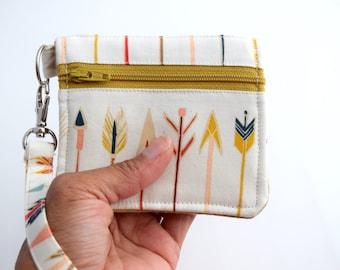 ID Card Holder, ID Wallet Keychain, College Student Gift, Credit Card Wallet, Handmade, Zookaboo