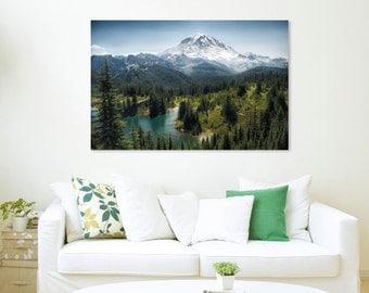 Mt. Rainier, Mountain, Scenic, Canvas, Tolmie Peak, Eunice Lake, Fine Art Photography, (11 sizes)