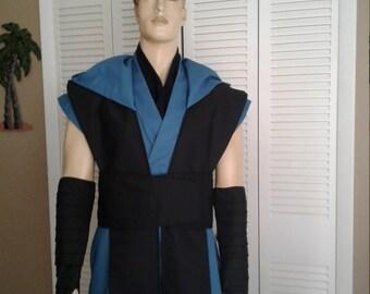 Star Wars Inspired Handmade Costume Sleeveless Hooded Tunic, Tabards, Mock Tunic, Obi, Arm Wraps  Size Medium/Large Handmade