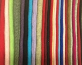 Upcycled 100% Cashmere Sweater Pieces, 32 pieces