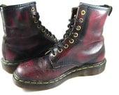 Dr. Martens oxblood burgundy 8 hole lace up boots. Doc Martens UK 5 / US 7 Womens