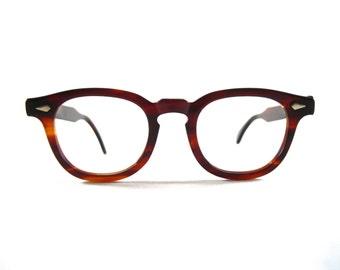 Tart Arnel Amber tortoiseshell. red/brown OTE Tart Optical authentic new old stock/NOS/deadstock. 46-22