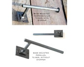 Hand Forged Iron Contemporary Toilet Paper Holder with Double Square Base by VinTin (Item # TP-505)