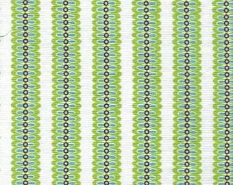 Liquidation SALE Lg Leafy Stripe-Lime-Michael Miller